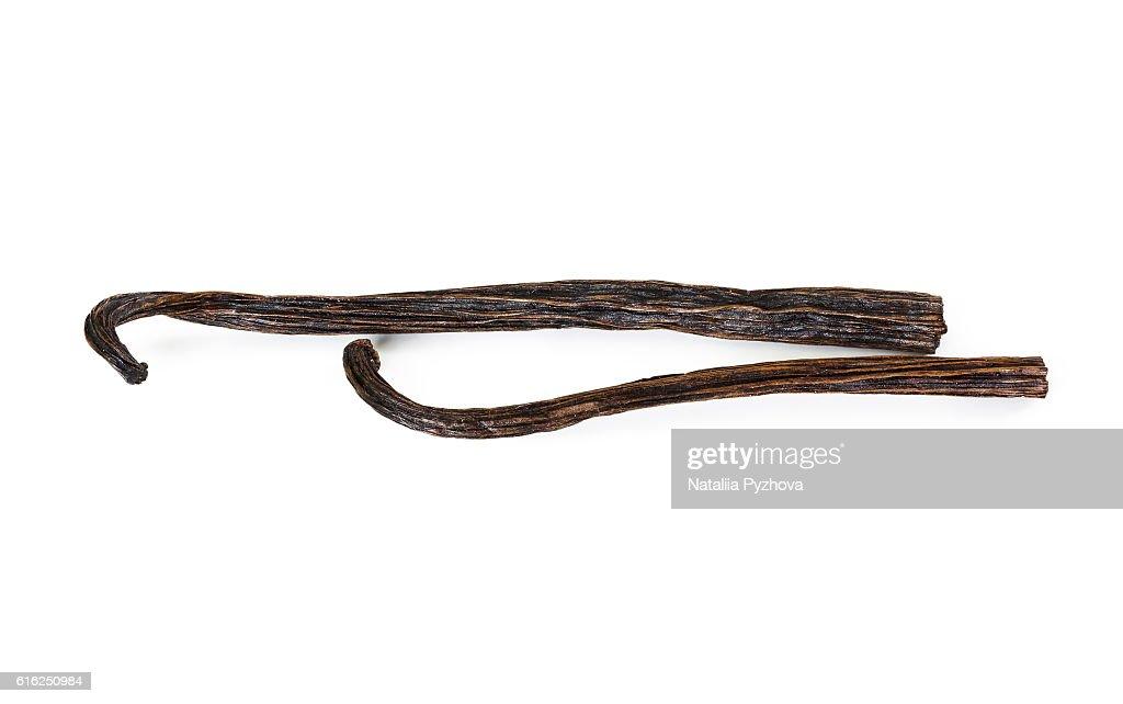 Two sticks of vanilla : Stock Photo