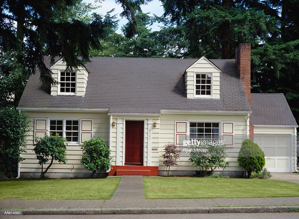 Two story home, exterior view : Stock Photo