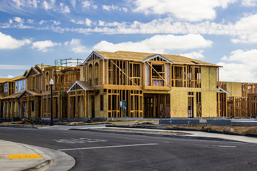 Two Story Homes Under Construction 1050871166