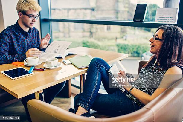 two students studying - textbook stock pictures, royalty-free photos & images