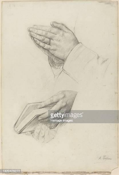 Two Studies of Hands. Artist Alphonse Legros.