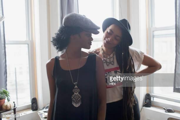 Two stylish young women