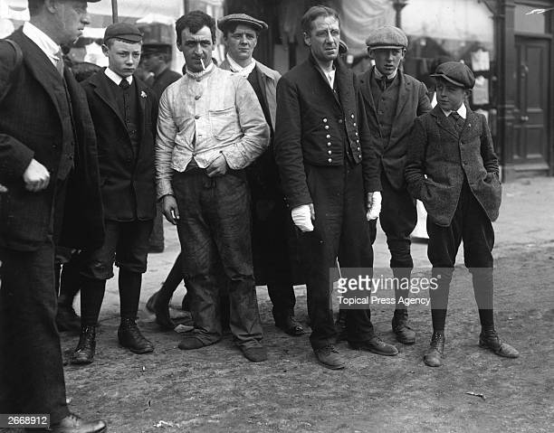 Two survivors of the Cunard passenger liner the Lusitania that was sunk by the German Navy off the South Coast of Ireland