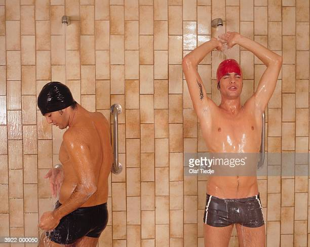 Two Swimmers in Shower