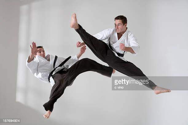 Two tae kwon do fighter