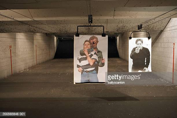 two targets at shooting range - ターゲット射撃 ストックフォトと画像