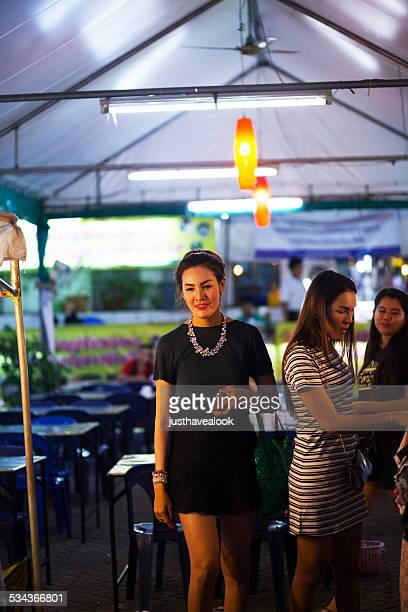 two thai ladyboys - ladyboys of bangkok stock photos and pictures