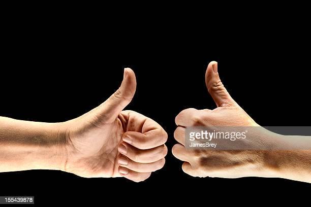 Dois polegares para cima