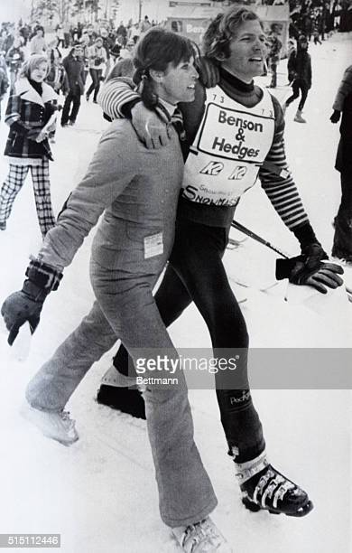 Two Time World Champion Skier Spider Mount Snow Vermont Two time world pro champion Spider Sabich struts arm in arm with his constant companion...