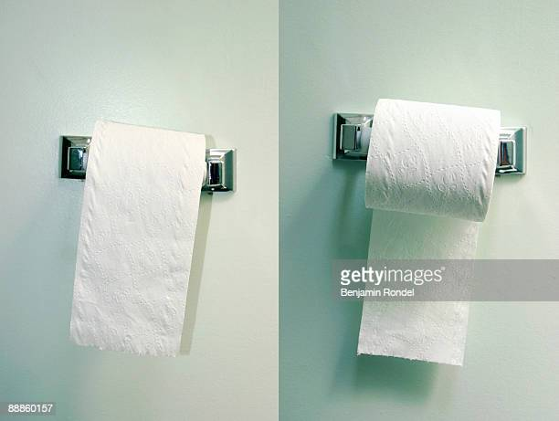 Two toilet paper rolls