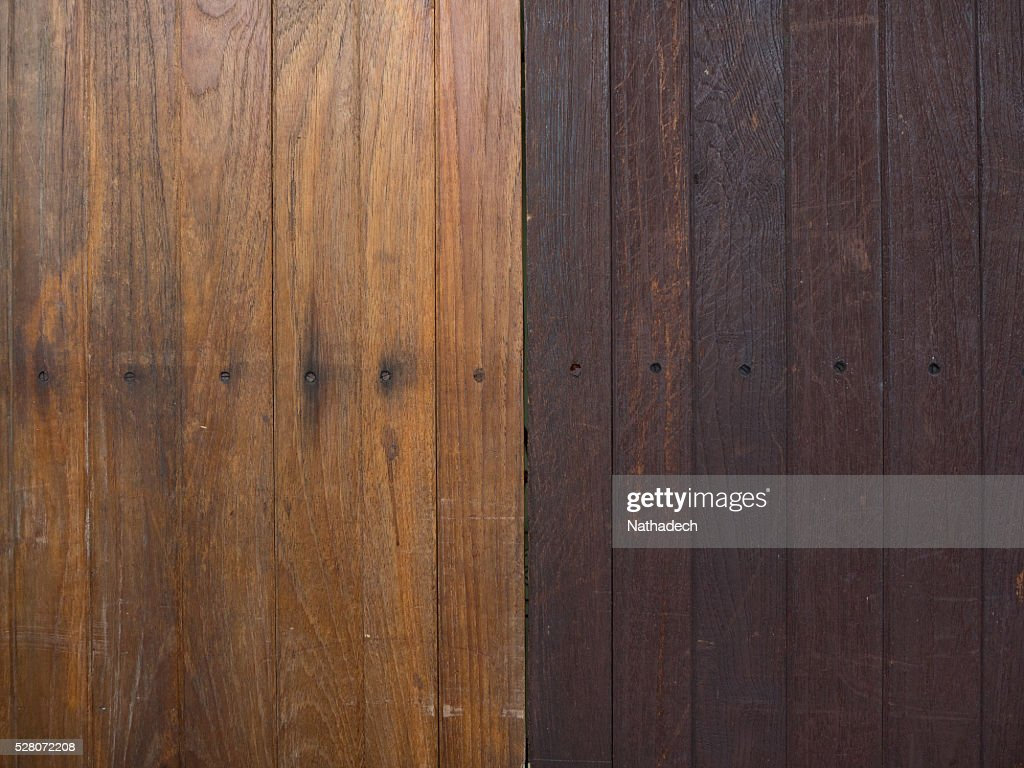 Two Tone Color Wood Floor Stock Photo