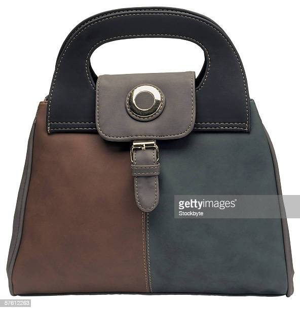 two toned leather handbag