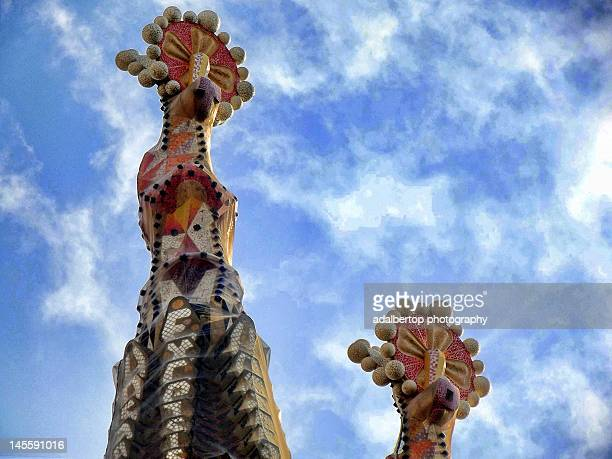 Two tops of towers of La Sagrada Familia