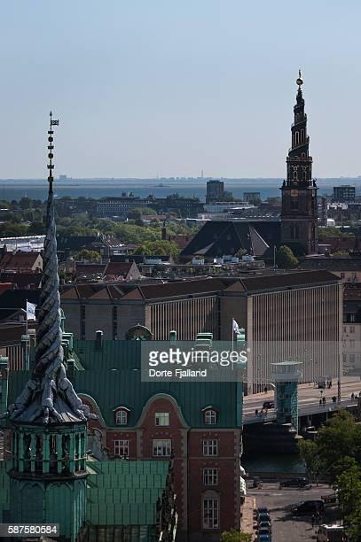 Two towers in Copenhagen