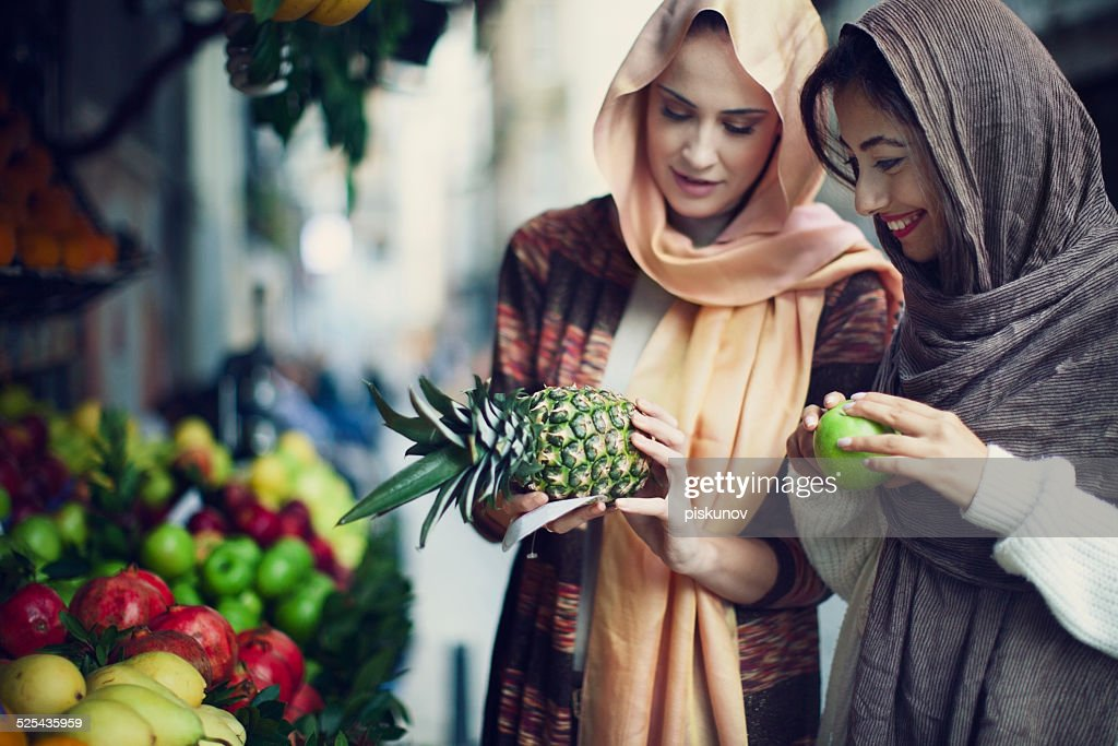 Two Turkish Women Enjoying Shopping : Stock Photo