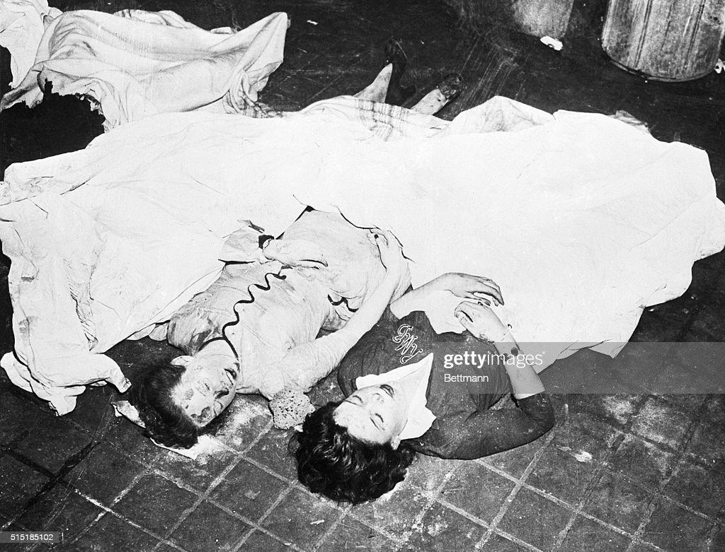 Cocoanut Grove Fire Victims at the Morgue : News Photo