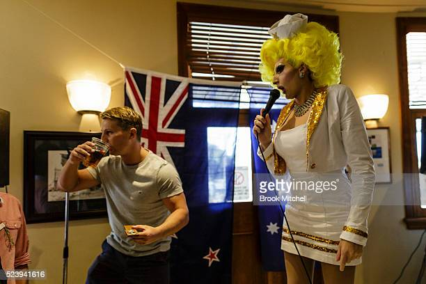 Two up hosted by the well known Sydney drag queen Prada Clutch at the Harbour View hotel in the Rocks on April 25 2016 in Sydney Australia Twoup is a...