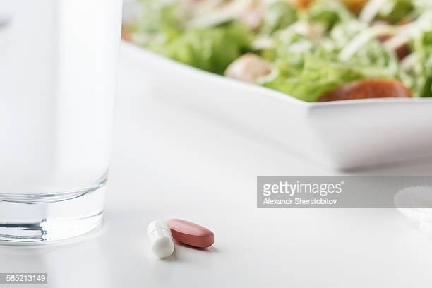 Two vitamin pills