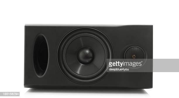 two way bass reflex loudspeaker on white