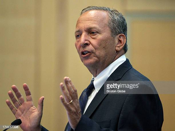 Two well known Harvard economists Lawrence Larry Summers and Greg Mankiw not pictured took part in a forum held on the campus of Northeastern...