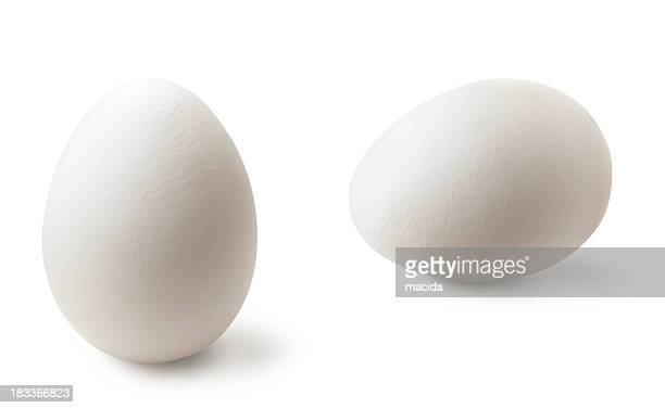 two white eggs - oval shaped objects stock pictures, royalty-free photos & images