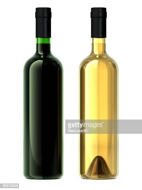 duas garrafas de vinho - dois objetos - fotografias e filmes do acervo