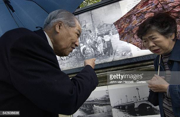 Two witnesses who appear in Yoshito Matsushige's first photo taken at Miyukibashi Bridge a little over two hours after the Abomb was dropped discuss...