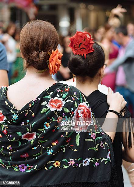 Two woman at an Andalusian Folk festival.