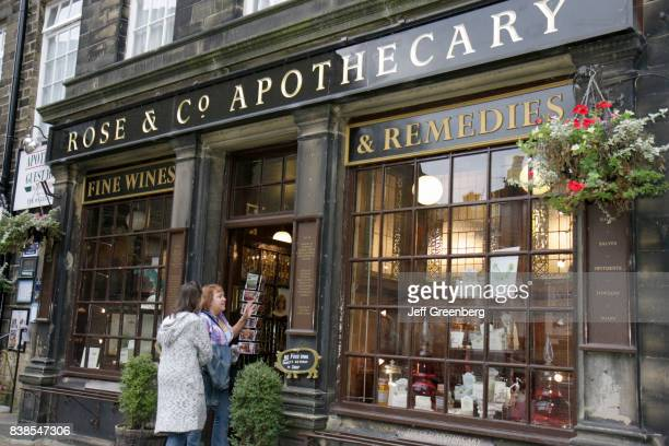 Two women at the entrance to Rose and Company Apothecary