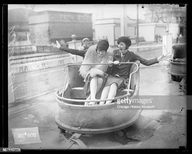 Two women at White City amusement park Chicago Illinois 1927