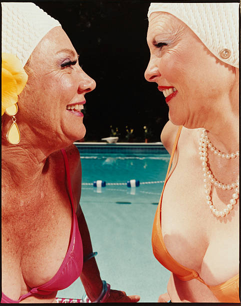 Two Women by Pool