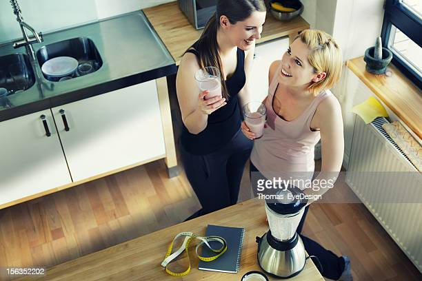 Two Women Enjoying a Meal Replacement Shakes