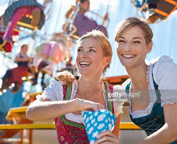two women enjoying Oktoberfest