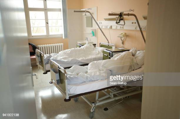 Two women from Poland lie awaking from anesthesia after they underwent abortions at the Krankenhaus Prenzlau hospital on April 3 2018 in Prenzlau...