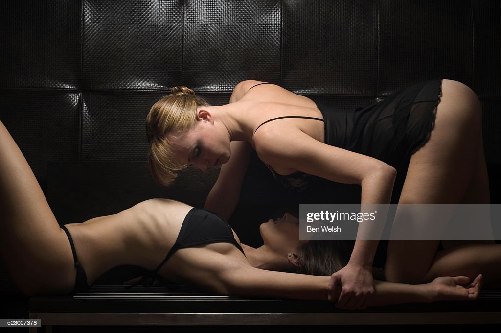 Two Women Getting Intimate : Stock Photo