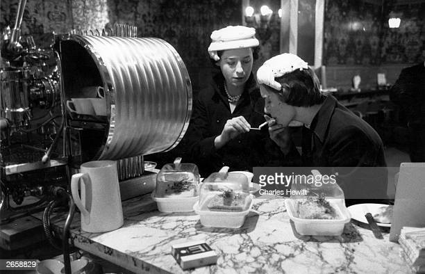 Two women having coffee at Fortnum and Mason's an exclusive store in Piccadilly London Original Publication Picture Post 7249 A Red Head in Search Of...