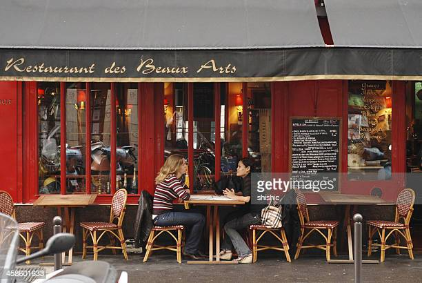 Two women in bistro, Paris
