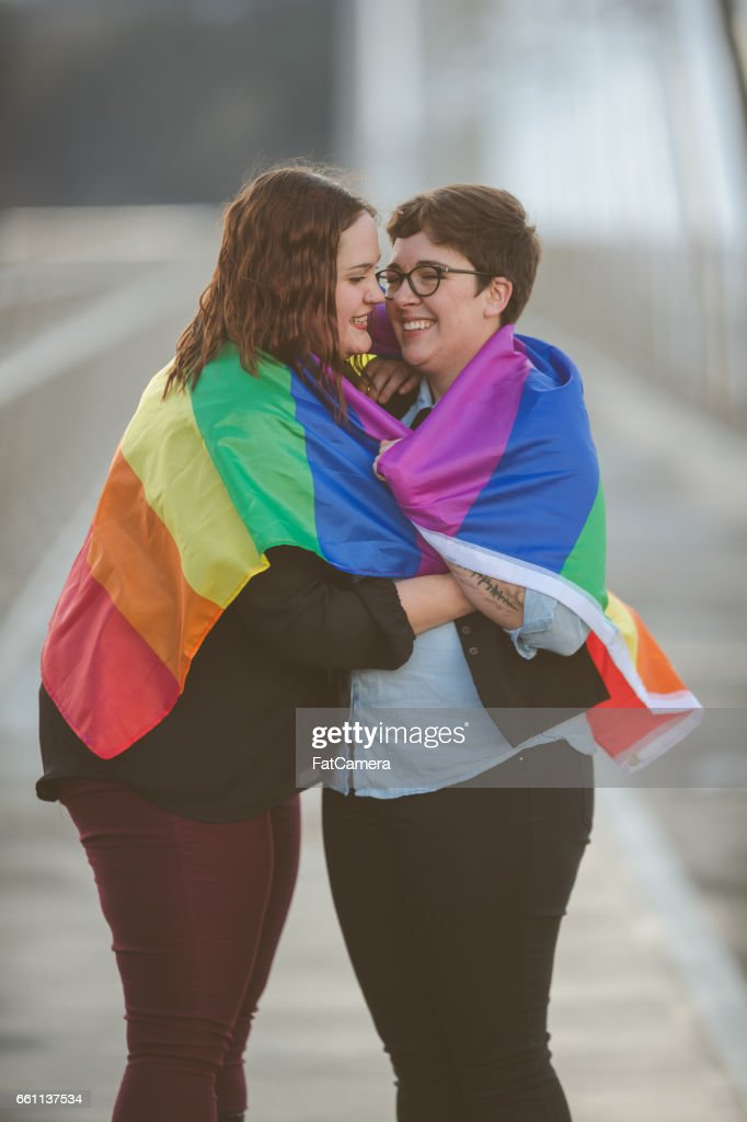 Two women in love : Stock Photo
