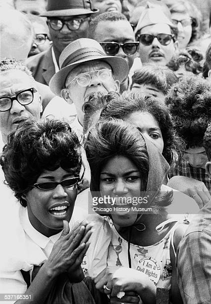 Two women in the crowd at the March on Washington for Jobs and Freedom in Washington DC August 28 1963