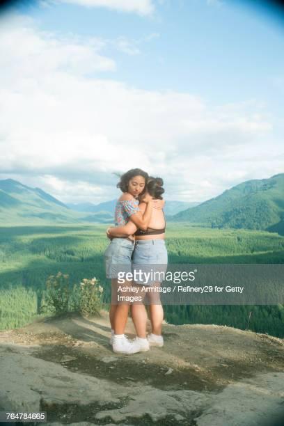 Two Women On Mountain Top