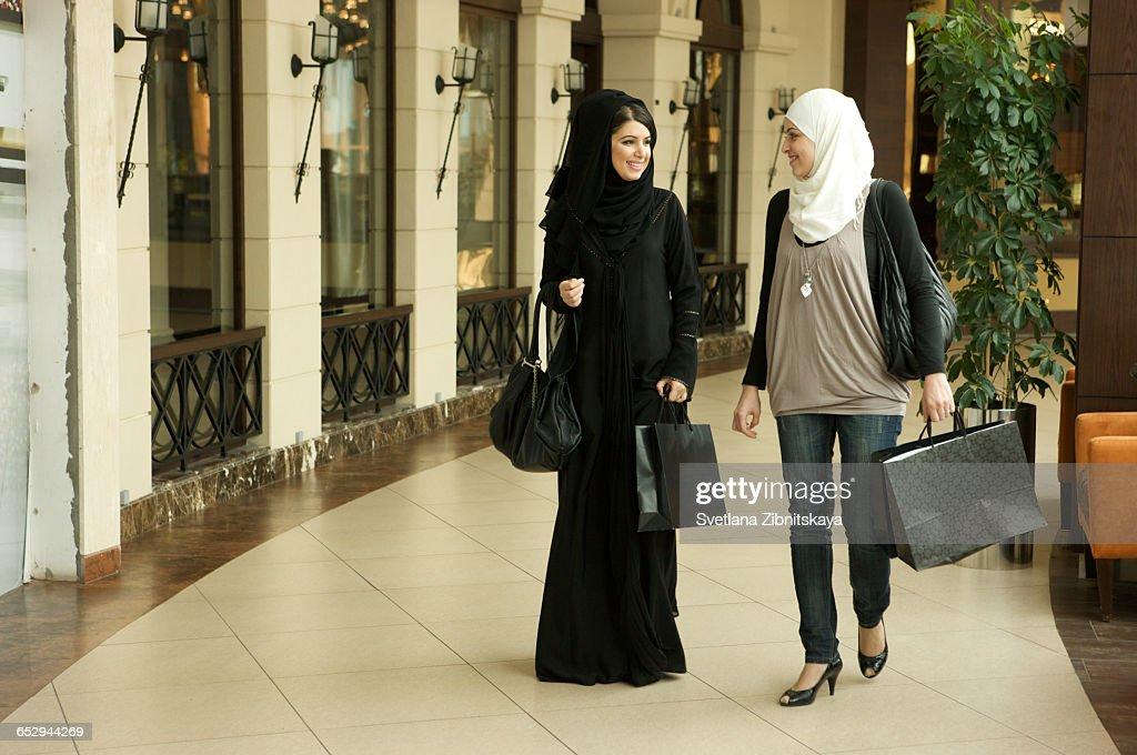 Two women shopping. : Stock Photo