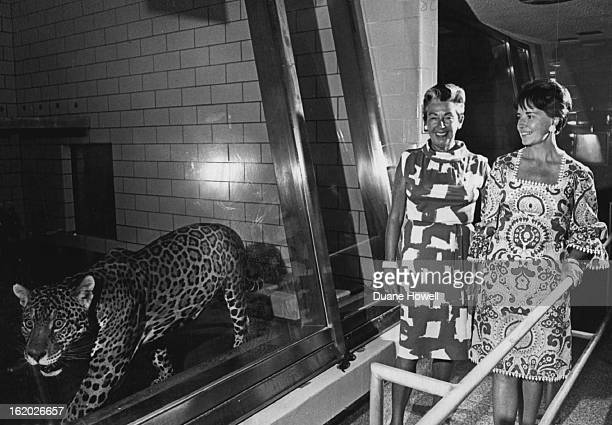 JUN 22 1966 JUN 23 1966 JUL 23 1966 Two women smile as the Big Cats roar Board members Mrs Henry McLister and Mrs John M King smile as they watch a...
