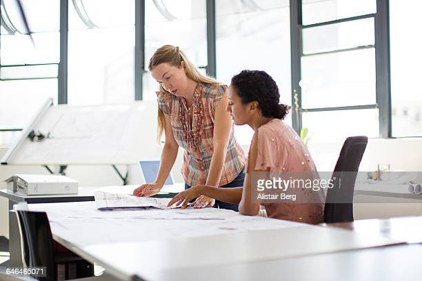 two women working together in an office - vanguardians stock pictures, royalty-free photos & images