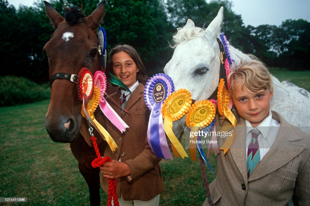 Pony Club Girls Portrait : News Photo