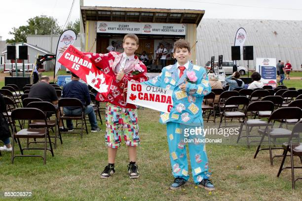 O'LEARY PE SEPTEMBER 24 Two young fans dressed up as hockey commentator Don Cherry for the Kraft Hockeyville Canada celebrations at O'Leary Community...