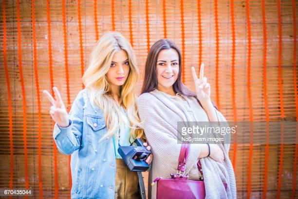 Two young girlfriends, lesbian couple, outdoors. Belgrade, Serbia, Europe