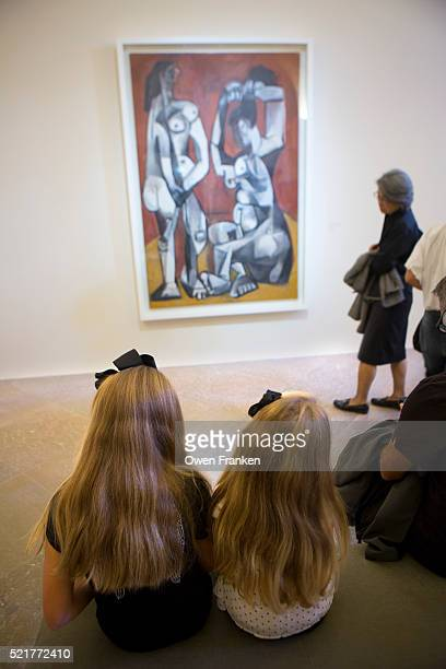 two young girls at the newly opened Picasso Museum-Paris