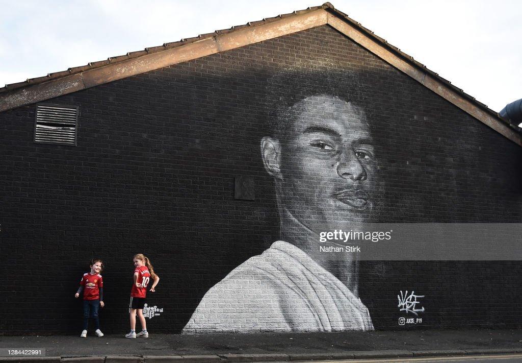 Marcus Rashford Mural In Manchester : ニュース写真