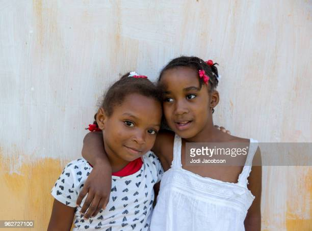 Two young Jamaican village children