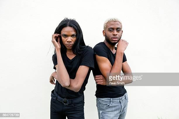 Two young men posing